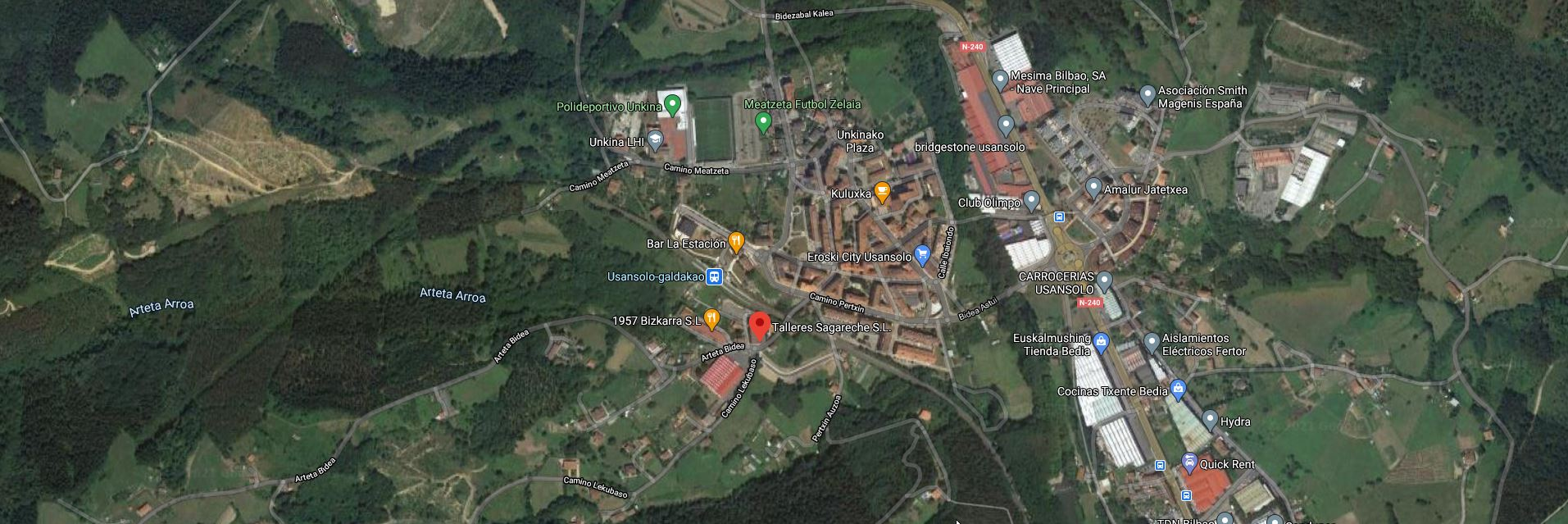 Talleres Sagareche vista satelital de las instalaciones